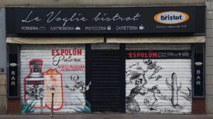 Decorazione serrande Graffiart per Campari