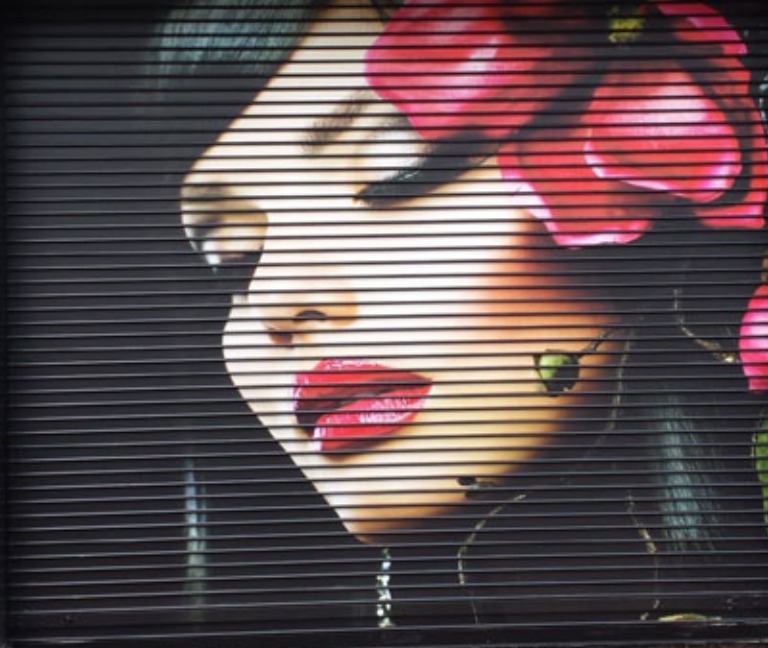 Decorazione Serranda Milano graffiart