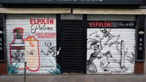 Decorazione sarrande Graffiart per Campari