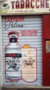 Pittura saracinesca negozio Graffiart